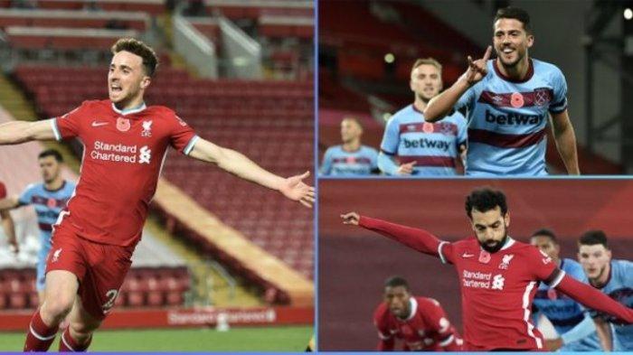 Liverpool Vs West Ham, The Reds Menang Lewat Gol Mohamed Salah dan Diogo Jota