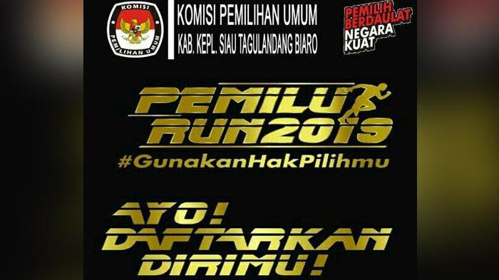 Gelar Pemilu Run 2019, KPU Sitaro Ajak Masyarakat Lari Bersama