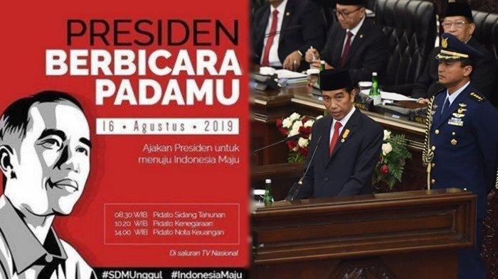 LIVE STREAMING Sidang Tahunan MPR RI 2019, Pidato Presiden Jokowi Terkait Nota Keuangan Tahun 2020