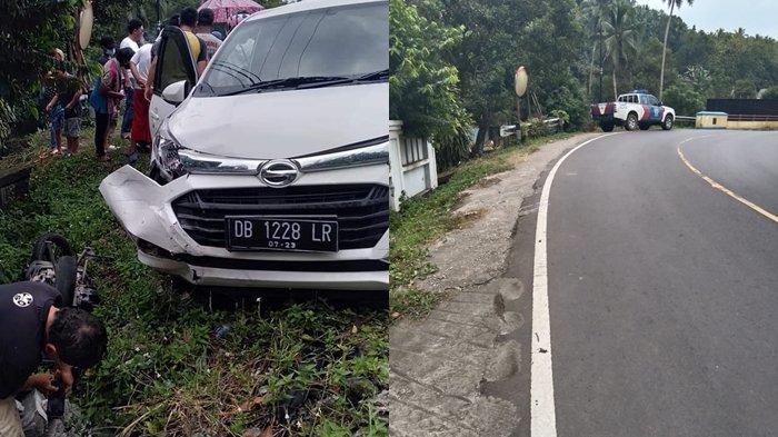 BREAKING NEWS Kecelakaan di Jembatan Popontolen Minsel, Pengendara Sepeda Motor Patah Kaki