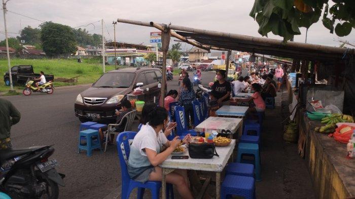 Lokasi wisata kuliner di Jalan Boulevard Dua, Kecamatan Sindulang, Kota Manado, Rabu (21/7/2021).