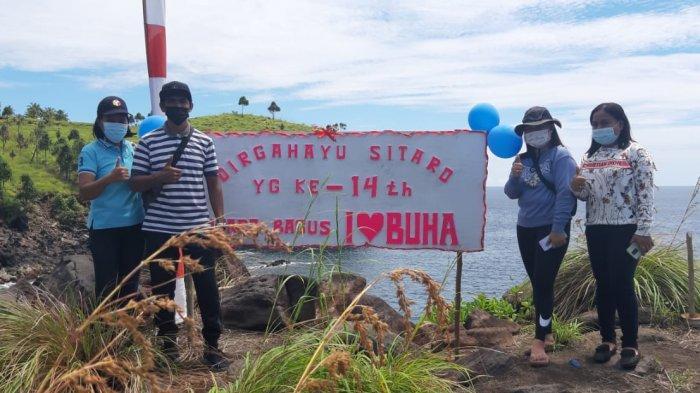 Pemerintah Kampung Buha Tagulandang Selatan Peromosikan Ikon Wisata Baru di HUT Sitaro
