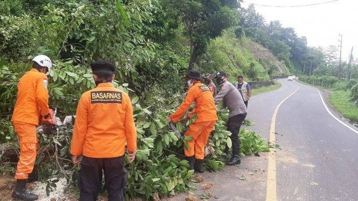 Curah Hujan Tinggi Sebabkan Tanah Longsor di Beberapa Titik di Kabupaten Minsel