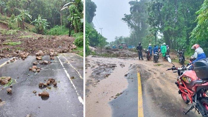 Longsor di Jalan Tanawangko-Senduk, Trans Sulawesi Putus, Kendaraan Terjebak Berjam-jam