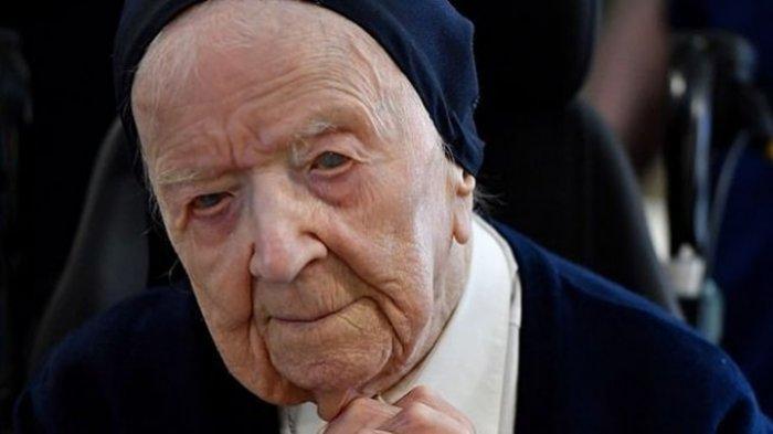 Sosok Lucile Randon, Manusia Tertua di Eropa Sembuh dari Covid-19, Kalahkan Corona di Usia 117 Tahun