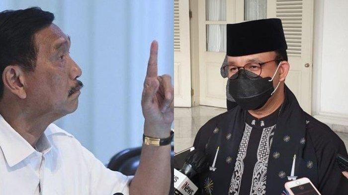 Luhut Binsar Pandjaitan dan Gubernur DKI Jakarta Anies Baswedan