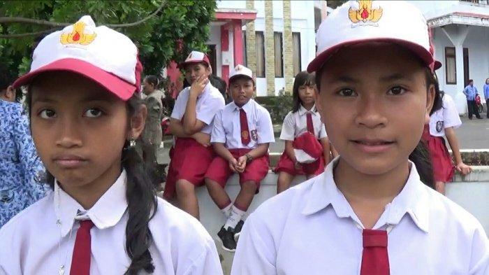 Magdalena dan Chelsea Siswa SD di Siau Titip Pesan Hardiknas untuk Presiden RI