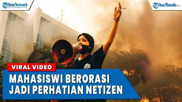 VIDEO Mahasiswi Cantik Ini Sebut Indonesia Terapkan Pancasalah Saat Demo Tolak UU Omnibus Law
