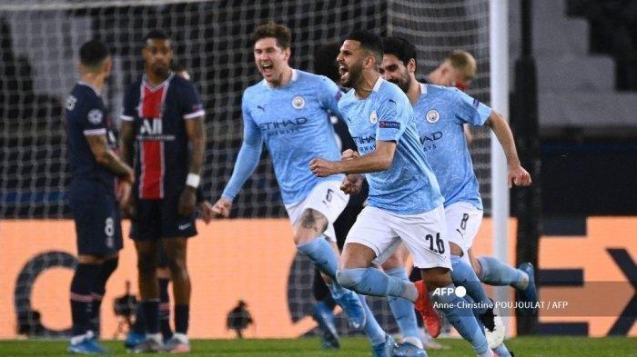 Hasil Liga Champions PSG vs Man City, Drama Comeback dan Kartu Merah, Satu Langkah City Ada di Final