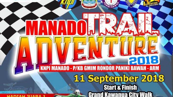 KNPI Manado dan P/KB GMIM Gelar Manado Trail Adventure 2018, Hadiah Utama Motor Kawasaki