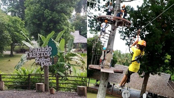 Manado Treetop Zipline Park, Uji Nyali Meluncur di Flying Fox Sepanjang 500 Meter