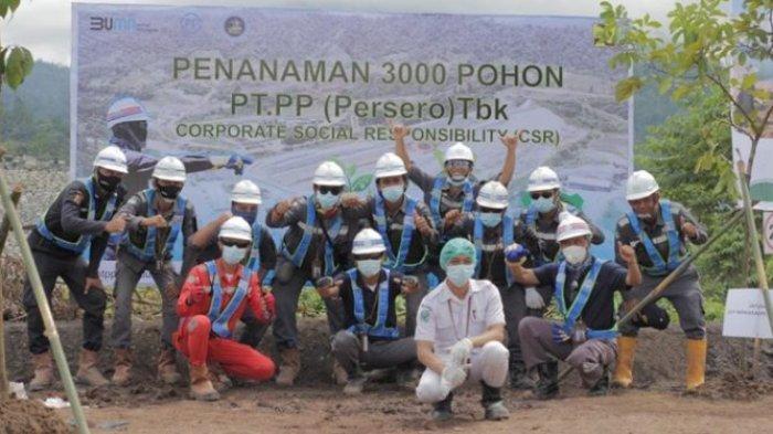 3.000 Pohon Ditanam PT Perumahan Pembangunan di Bendungan Lolak