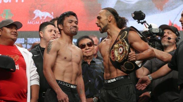 SEDANG BERLANGSUNG Live Streaming Tinju Dunia Manny Pacquiao vs Thurman Minggu (21/7), Tonton di HP