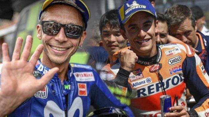Jelang MotoGP Belanda 2019: Valentino Rossi Disebut Bukan Pesaingnya oleh Marc Marquez