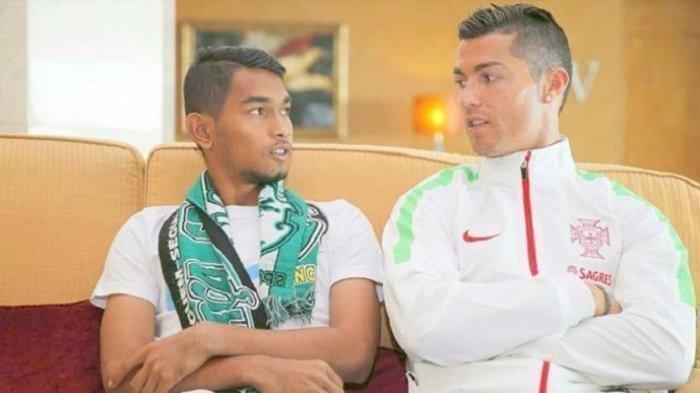 Martunis yang jadi korban tsunami Aceh, anak angkat Cristiano Ronaldo.