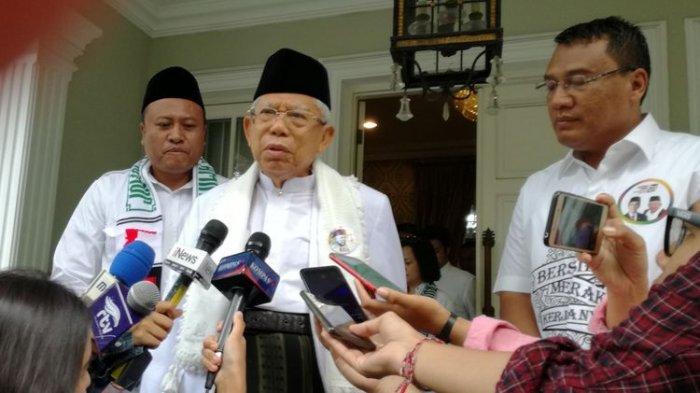 Tanggapan Ma'ruf Amin soalSurvei yang Menangkan Prabowo- Sandi