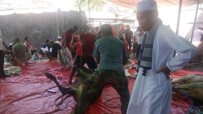 Seperti Ini Perayaan Idul Adha di Masjid Agung Awwal Fathul Mubien Tuminting
