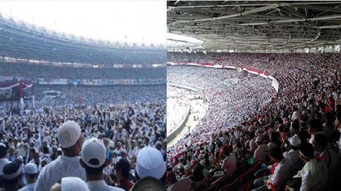 Perbandingan Pidato dan MassaKampanye Jokowi Vs Prabowo di GBK, Simak Foto dan Videonya