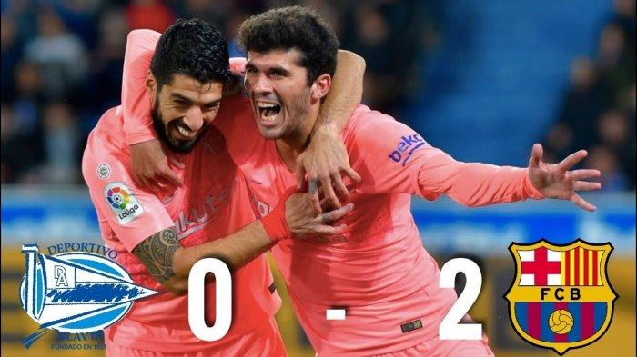 KLASEMEN LIGA SPANYOL, Barcelona di Puncak Usai Kalahkan Deportivo Alaves, Suarez Master Penalti!