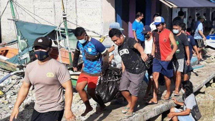 Polsek Lirung Kabupaten Talaud Datangi TKP Penemuan Mayat di Pelabuhan Speed Boat