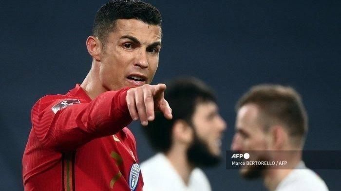 Megabintang Portugal Cristiano Ronaldo.