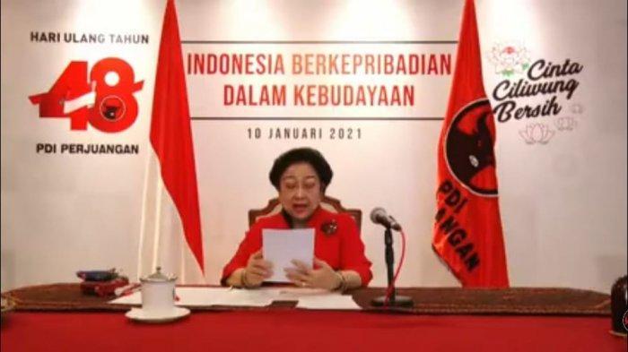 Megawati Soekarnoputri Bawakan Pidato HUT PDIP