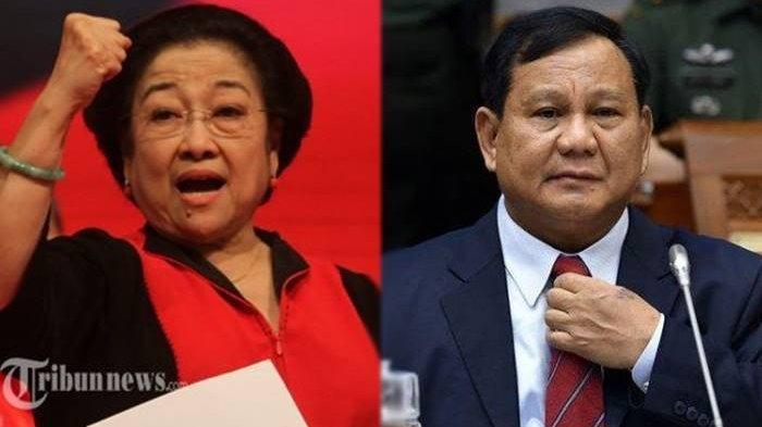 Megawati Soekarnoputri dan Prabowo Subianto.