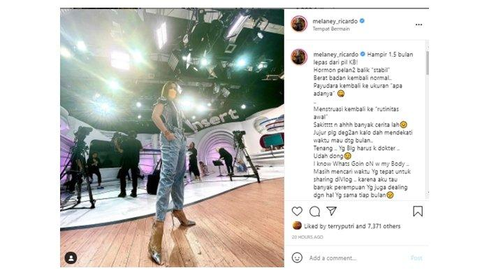 Melaney Ricardo cerita pengalaman berhenti minum pil KB; foto diunggah Jumat (23/7/2021).