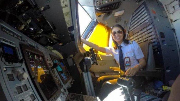 Sosok Melati Arumsari, Pilot Cantik Sudah Terbangkan Bermacam Pesawat, Sering Hadapi Cuaca Buruk