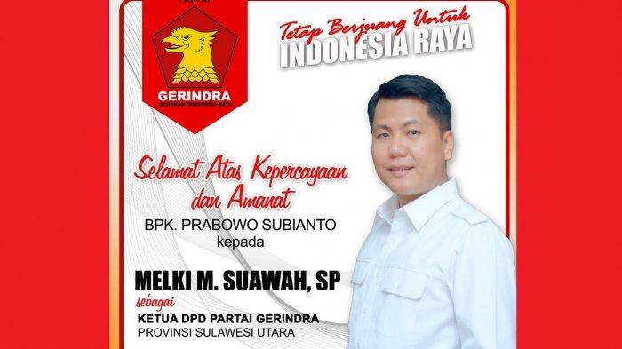Prabowo Tetapkan Melki Suawah Jabat Ketua Gerindra Sulut, Sayap Partai Ungkap Dukungan Penuh