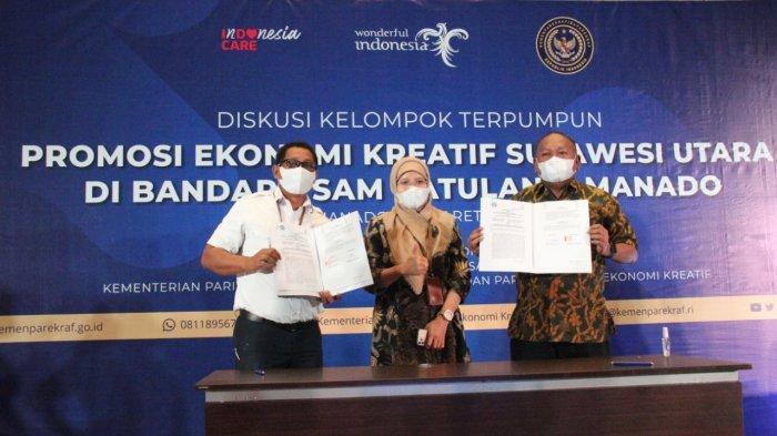 Angkasa Pura I dan Dinas Pariwisata Sulut Hadirkan Titik Promosi Parekraf di Bandara Samrat Manado