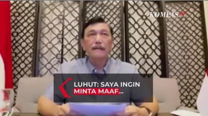 Menko Luhut Pandjaitan: 'Saya Minta Maaf pada Seluruh Rakyat Indonesia' Dari Lubuk Hati Paling Dalam