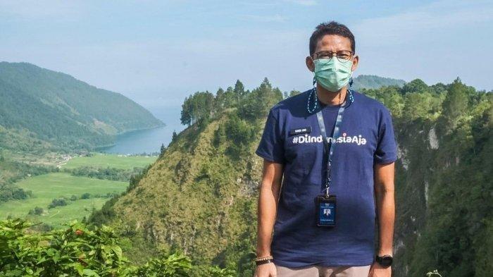 Menparekraf Sandiaga Uno di spot Adian Nalombok Danau Toba