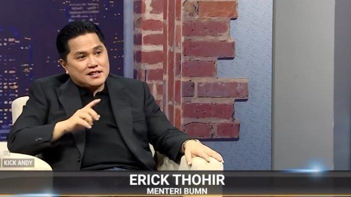 Menteri BUMN Erick Thohir mengungkapkan jumlah kekayaan yang dilaporkan dalam LHKPN, dalam acara Kick Andy, Selasa (29/9/2020)