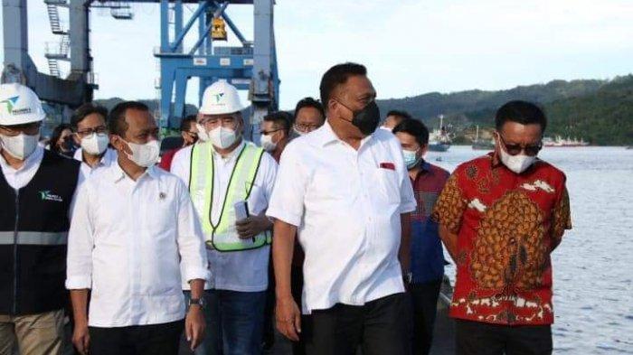 Gubernur Olly Dondokambey Dampingi Menteri Investasi Cek Pelabuhan dan KEK Bitung