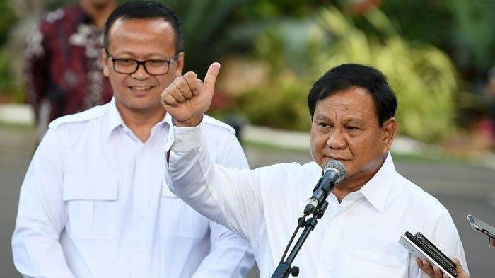 Menteri Kelautan dan Perikanan (KKP) Edhy Prabowo dan Menteri Pertahanan Prabowo Subianto.