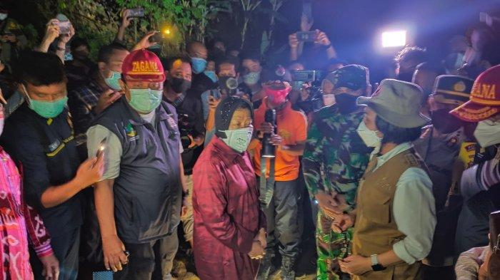 BREAKING NEWS, Mensos Tri Rismaharini Tinjau Korban Banjir di Desa Batu Merah Bolmong