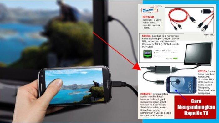 Gini Cara Tampilkan Layar Hp ke Tv Hanya dengan Menggunakan Kabel!