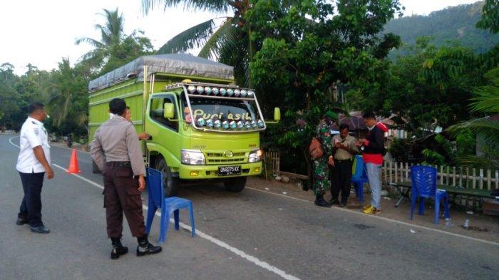 Tim Satgas Bolmut Perketat Posko Perbatasan Masuk Bolmong - Bolmut