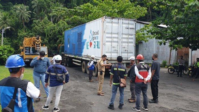 PLN ULP Siau Sitaro Ketambahan Satu Unit Mesin Pembangkit Listrik Kapasitas 1 Megawatt