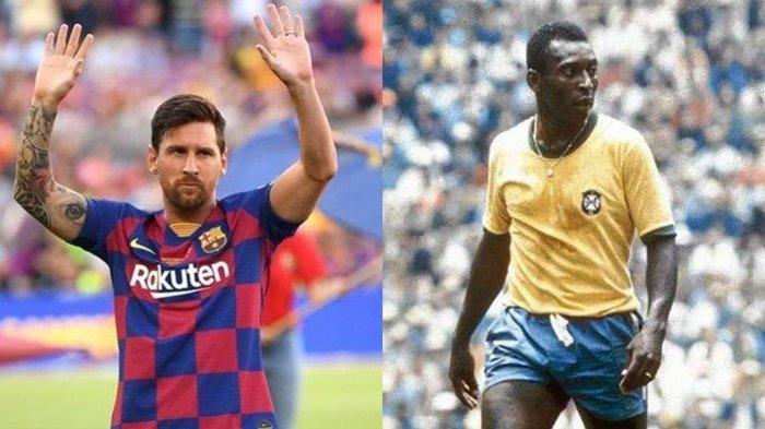 Lionel Messi Kalahkan Legenda Brasil Pele Cetak Gol 'Sah Menjadi Manusia Tertajam untuk Klub'