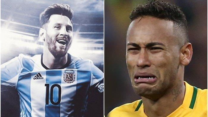 Argentina Pecundangi Brasil di Copa America 2021, Neymar Menangis Dipermalukan Messi Cs di Kandang