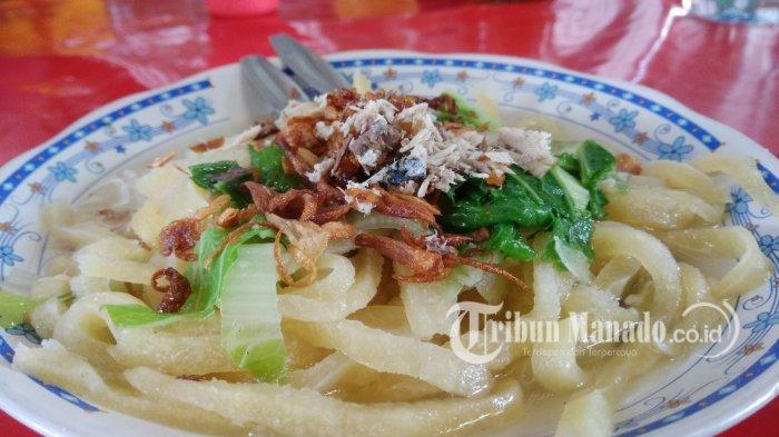 Wisata Kuliner di Langowan Minahasa, Nikmati Sajian Mie Ubi di Pasar Lama