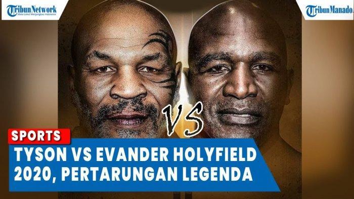 VIDEO Mike Tyson vs Evander Holyfield 2020, Laga Ekshibisi Untung Besar