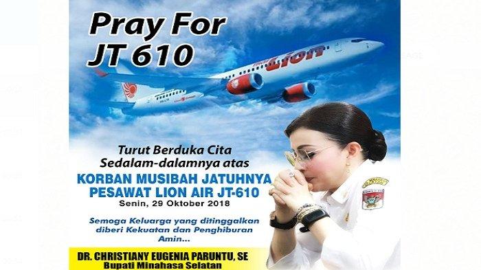 Bupati Paruntu Turut Berdukacita Atas Musibah Jatuhnya Pesawat Lion Air JT-610