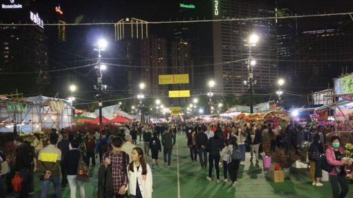 Mirip di Indonesia, Cara Warga Hong Kong Rayakan Imlek, Lapangan Terbuka Jadi Sentra Bunga Hias