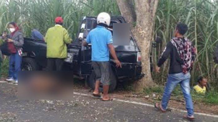 Mobil pikap tabrak pohon menyebabkan tujuh penumpangnya meninggal dunia di Poncokusumo, Kabupaten <a href='https://manado.tribunnews.com/tag/malang' title='Malang'>Malang</a>, Rabu (26/5/2021).