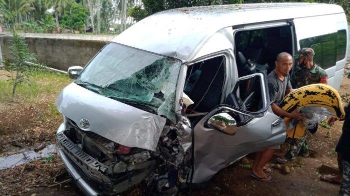 BREAKING NEWS, Mobil Rombongan Anggota Dewan Kota Tomohon Kecelakaan di Jalan Trans Sulawesi