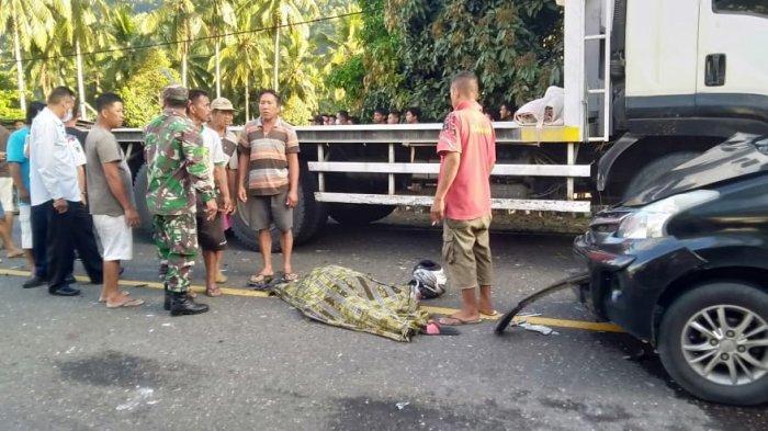 Kecelakaan Maut di Desa Muntoi Bolmong, Satu Orang Dilarikan ke RSUD Kotamobagu