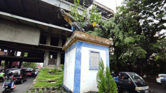 Monumen Stadion Klabat di Ranotana, Wanea, Manado yang tak terawat. Foto diambil Sabtu (17/07/2021).